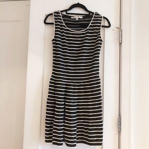 Max Studio Black/White Striped Dress
